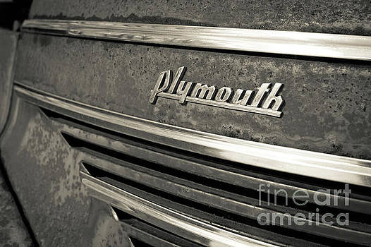 Vintage Plymouth Nameplate by Edward Fielding