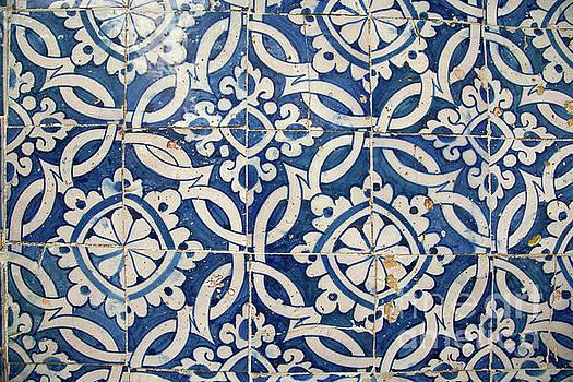 Vintage portuguese azulejo by Gaspar Avila