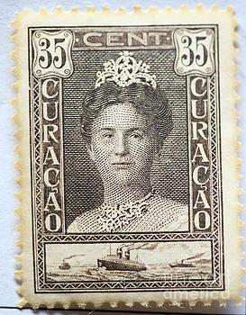 Patricia Hofmeester - Vintage postage stamp of Dutch Queen Wilhelmina