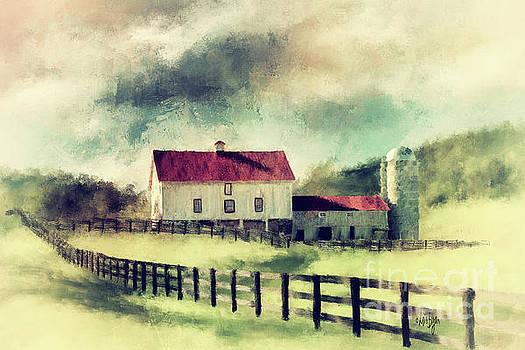 Lois Bryan - Vintage Red Roof Barn