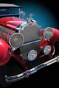 Vintage Red Touring Automobile by Debi Dalio