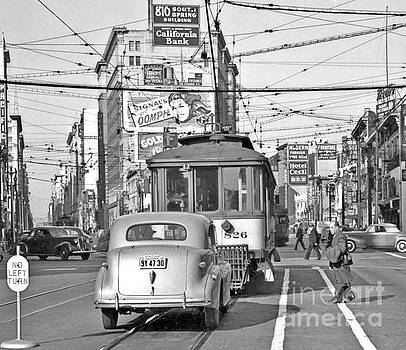 Vintage San Francisco Street Car Line  by Pd
