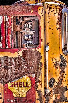 Vintage Shell Gasoline Pump by Steven Bateson
