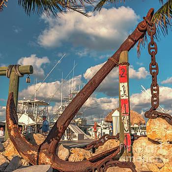 Old Ship Anchor Blowing Rocks Marina by Edie Ann Mendenhall