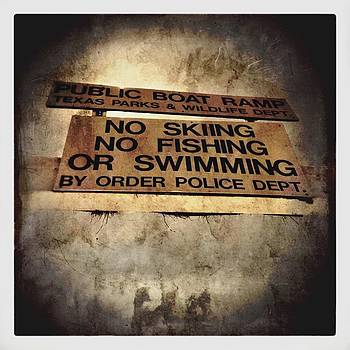 #vintage #sign #lake #swimming by Judy Green