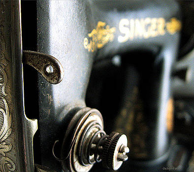 Vintage Singer Sewing Machine by Delight Worthyn