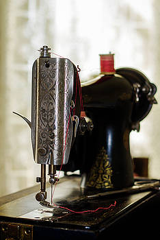 Vintage Singer Sewing Machine by Eleanor Caputo
