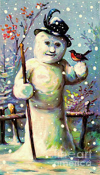 Vintage Snow Man by Tina LeCour