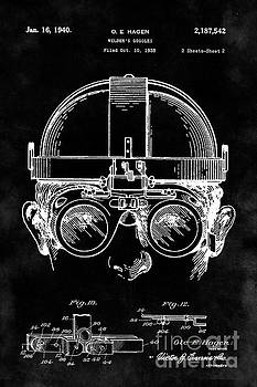 Tina Lavoie - Vintage Steampunk Welding Goggles Blueprint Patent Drawing