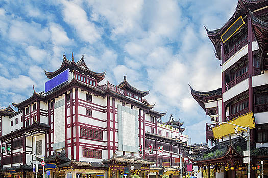 Vintage street and oil market in Shanghai by Anek Suwannaphoom