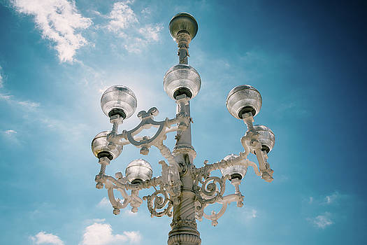 Vintage streetlight in San Sebastian by Dutourdumonde Photography
