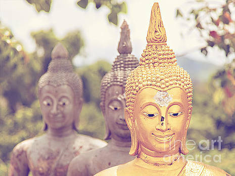 Sophie McAulay - Vintage styled Buddha statues