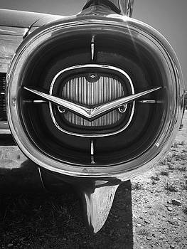 Vintage Tail Fin in Black and White by Kelly Hazel