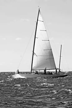 Pedro Cardona Llambias - Vintage tall ship in black and white