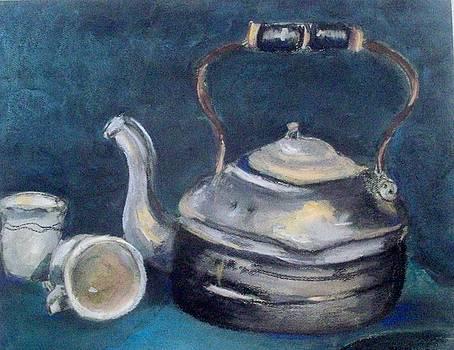 Vintage Teakettle by Sandra McClure