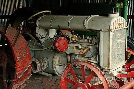 Vintage Tractor  by Inspirational Photo Creations Audrey Woods