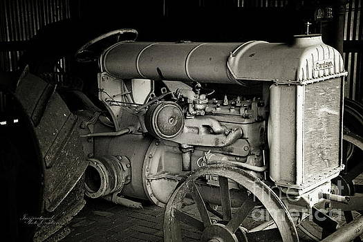 Vintage Tractor BW by Inspirational Photo Creations Audrey Woods