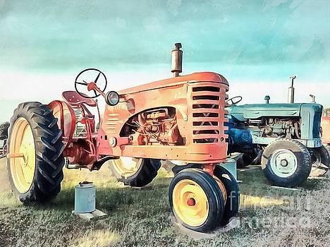 Edward Fielding - Vintage Tractors Acrylic