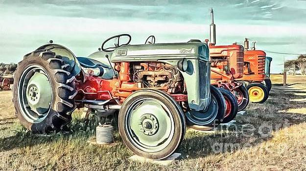 Vintage Tractors Ford  by Edward Fielding