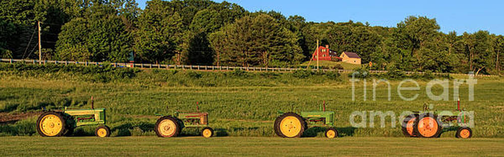 Edward Fielding - Vintage Tractors Sunset Panoramic