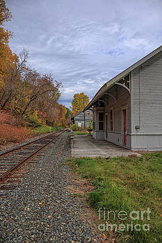 Vintage Train Station in Vermont by Edward Fielding