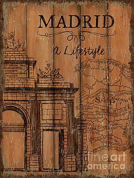 Vintage Travel Madrid by Debbie DeWitt