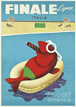 Vintage Travel Poster Italy by Mindy Sommers