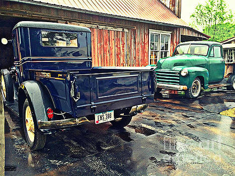 Vintage Trucks by Kathy M Krause