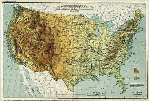 USA Places And Geographic Features Map Maps For The Classroom - Physical features of the us map