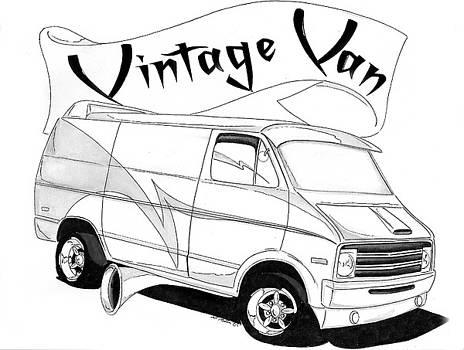 Vintage Van by Nathan  Miller