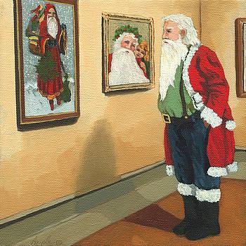 Vintage Victorian - Museum Santa by Linda Apple