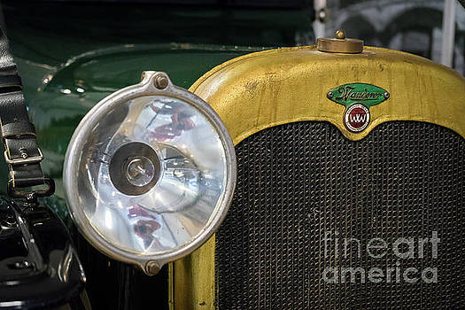 Vintage Wanderer auto, hood and lamp, color by Vyacheslav Isaev