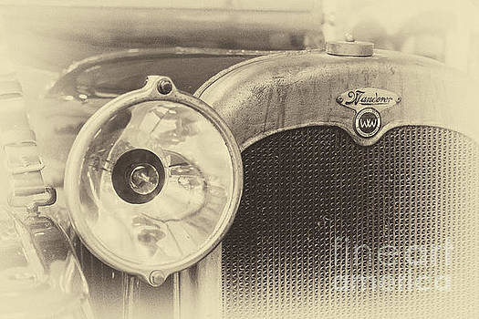 Vintage Wanderer auto, hood and lamp, in sepia by Vyacheslav Isaev