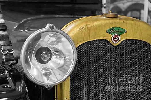 Vintage Wanderer auto, hood and lamp, stylized by Vyacheslav Isaev