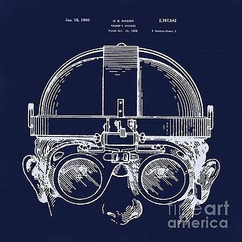 Tina Lavoie - Vintage Welders Goggles blueprint detail drawing