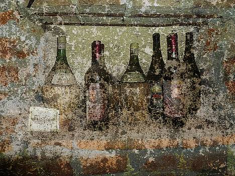 Vintage Wine Bottles - Tuscany  by Jen White