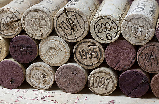 Vintage Wine Corks by Frank Tschakert