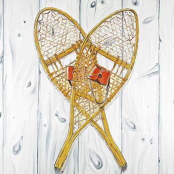 Vintage Wood Snowshoes by Atelier B Art Studio