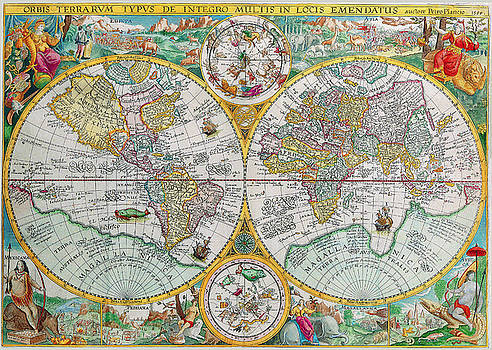 Peggy Collins - Vintage World Map
