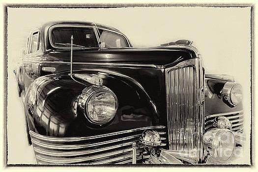 Vintage Zil in sepia, framed by Vyacheslav Isaev