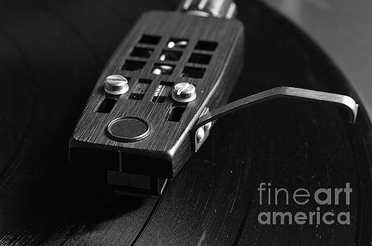 Angelo DeVal - Vinyl Record Playing in Monochrome