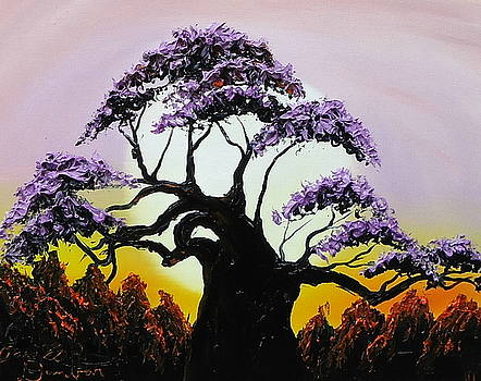 Violet Colors Of Africa by Portland Art Creations