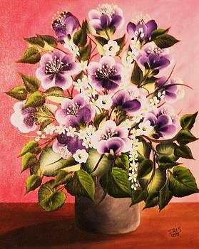 Violet Flowers by Iris  Mora
