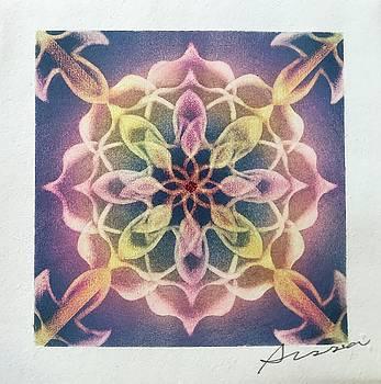 Violet frame  by Alisa Takahashi