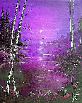 Violet Jamaica Sunrise  by Collin A Clarke