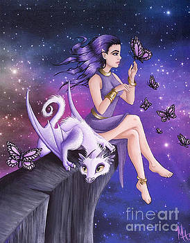 Violet Night Fantasy by Mary Hoy