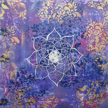 Violet Sky Mandala by Louise Gale