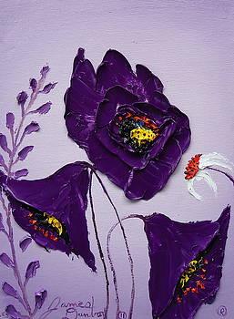 Violet Sky Purple Poppies 2 by Portland Art Creations