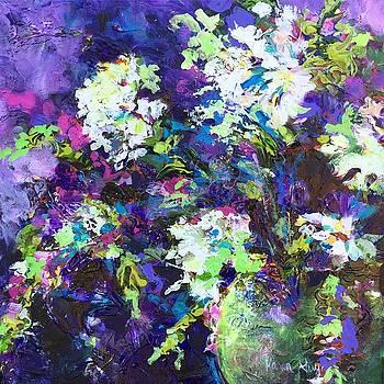 Violet Vase by Karen Ahuja