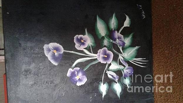 Violets for Meg1 by Valerie VanOrden